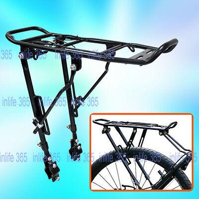 "ALLOY BIKE Bicycle DISC BRAKE REAR PANNIER RACK ADJUSTABLE FOR 24-28"" 25KG New B"