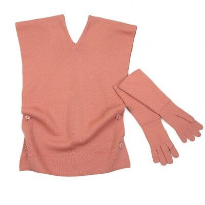 (SALE) Plantation Wool pullover vest and gloves Size About  M(K-27342)