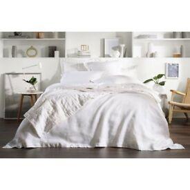 BRAND NEW – Sheridan Abbotsen pure white LINEN bedding - worth £106