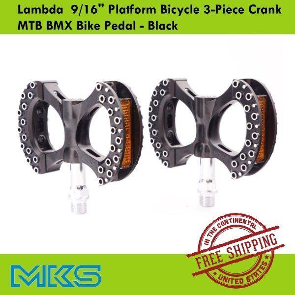 "MKS LAMBDA 9//16/"" 3-PIECE CRANK BICYCLE Silver PEDALS BMX MTB Cycling"