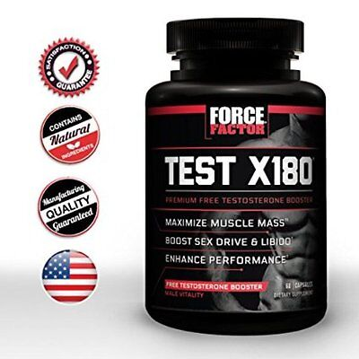 Force 60 Capsules - Force Factor Test X180 Testosterone Booster -- 60 Capsules....MORE ENERGY....