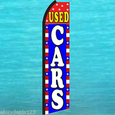 Used Cars Rwb Swooper Flag Tall Flutter Feather Vertical Advertising Sign Banner