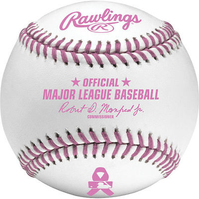 (12) Rawlings Official Mothers Day Breast Cancer Major League Baseball Dozen