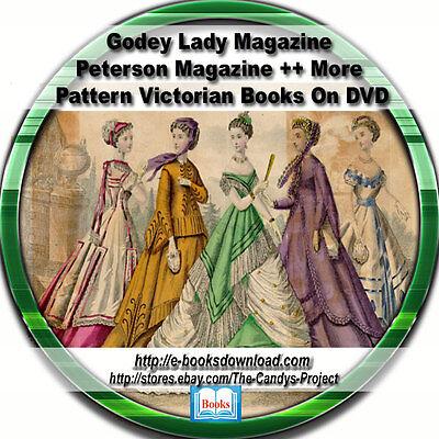 Godey Lady Magazines Peterson Magazine Patterns Civil War Era Dress Making 3 DVD (Clothes Magazines)