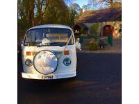 Unique VW 8 seat Campervan wedding hire