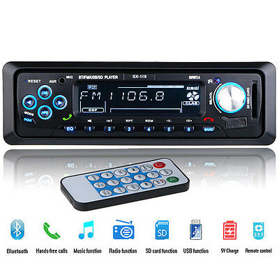 Universal 12 Pin Car InDash Stereo USB/SD/FM MP3 Radio Player Remote Control 12V