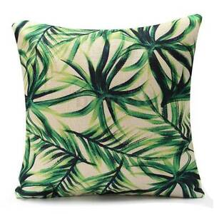 BAMBOO LEAVES---TROPICAL PLANT LEAVES--- CUSHION COVER----NEW Wynn Vale Tea Tree Gully Area Preview