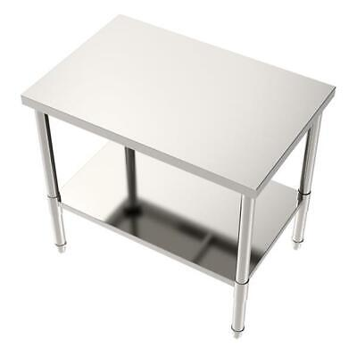 Stainless Steel Commercial Kitchen Work Food Prep Table - 24 X 36 X 32