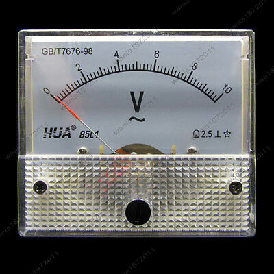Ac 10v Analog Voltmeter Panel Pointer Volt Voltage Meter Gauge 85l1 0-10v Ac