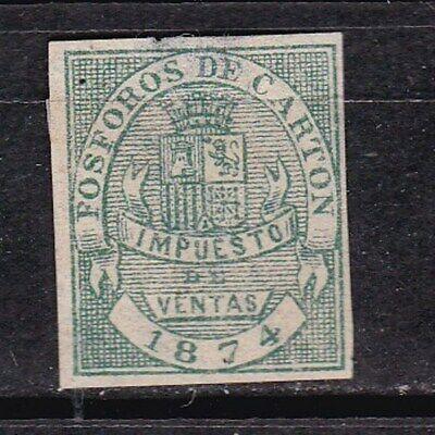 1874 - España - Alfonso XII - Fosforo Carton - Impuesto Municipal
