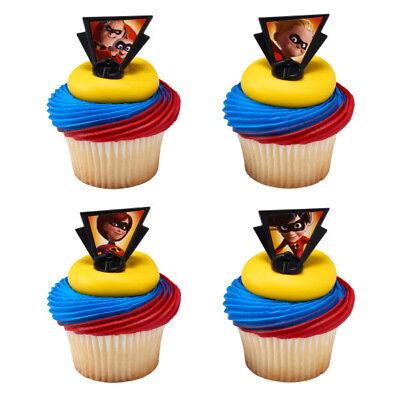 The Incredibles Pixar movie cupcake rings (24) favor cake topper 2 - Cupcake Movie