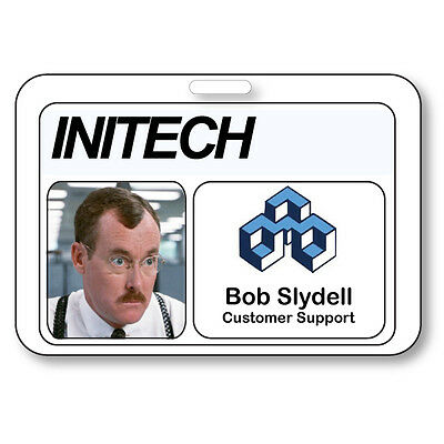 BOB SLYDELL NAME BADGE HALLOWEEN COSTUME PROP OFFICE SPACE TV SHOW STRAP CLIP](Halloween Tv Clips)