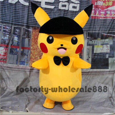 Pikachu Mascot Costume (2018 Popular Pikachu Adult Mascot Costume Party Pokemon Go Cosplay Game)