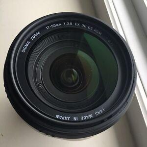 Sigma (Nikon) 17-50 OS HSM EX with Extras