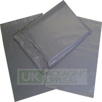 200 x GREY PLASTIC MAILING BAGS ASSORTED MIXED VARIOUS SIZES PACK - NEW