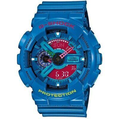 Casio G-Shock GA110 Series Analog-Digital Hyper Color Blue x Pink Dial Watch