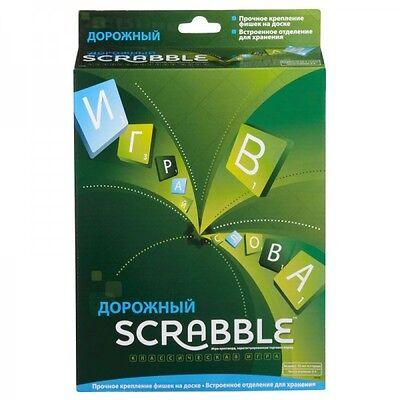 SCRABBLE TRAVEL MATTEL ORIGINAL BOARD GAME RUSSIAN EDITION BRAND NEW