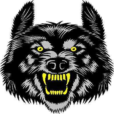 30 Custom Wild Black Wolf Personalized Address Labels