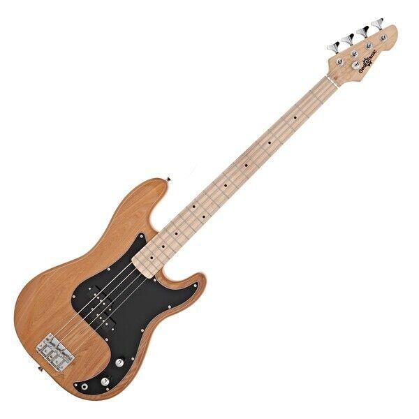 LA Select Bass Guitar by Gear4music Natural