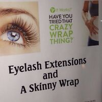 Free Skinny Wrap with new set of Lash Extensions $85!