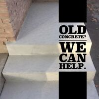 OLD CONCRETE ? INDOOR OR OUTDOOR . We can help !