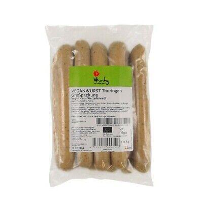 Wheaty VEGANWURST THURINGEN Großpackung, BIO, 1kg Vegan Grillen Würstchen