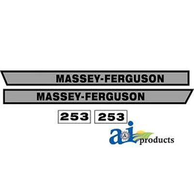 Decal Set To Fit Massey Ferguson 253