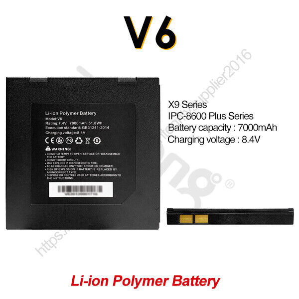 Rsrteng V6 Li-ion Polymer Battery for IPC-8600 Plus/X9 Serise CCTV Camera Tester