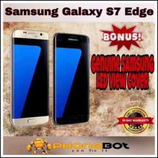 Mint condition Network unlocked S7 Edge Black/Gold/Silver