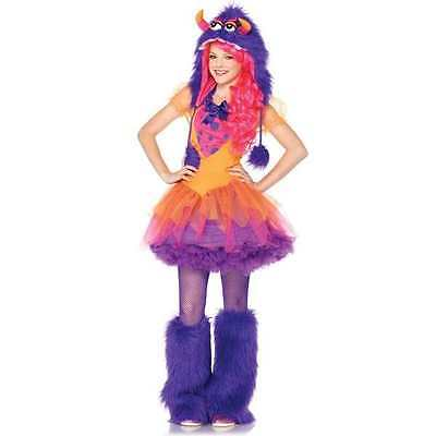 Leg Avenue FURRROCIOUS FRANKIE Costume Dress and Hood 10-12 Halloween Jr Girl