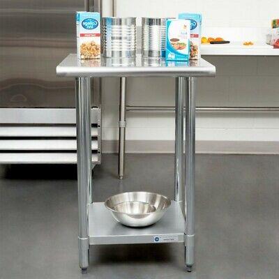 Commercial Indoor 24x24 Stainless Steel Adjustable Undershelf Work Prep Table