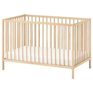 Crib - IKEA Sniglar with mattress and bumpers