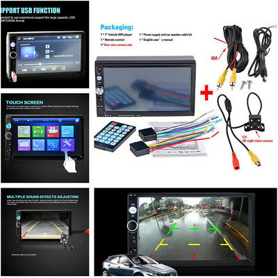2 din HD Rear View Car Radio Bluetooth FM MP5 Player with Digital Touch Screen