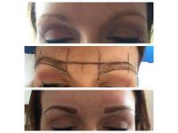 Eyebrow enhancement semi permanent make-up (tattooing)