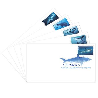 USPS New Sharks Digital Color Postmark set of 5