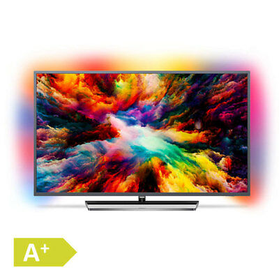 Philips 139cm 55 Zoll 4K Ultra HD LED Fernseher 3fach Ambilight HDR Android