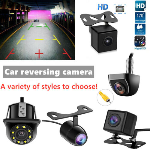 HD 170° Car Rear View Reverse Backup Parking Camera Night Vision Waterproof CCD