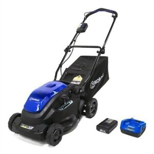Cordless Electric Push Mower & Cordless String Trimmer (2-in-1)