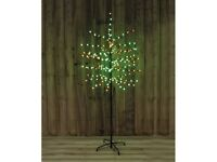 6ft 200 LED Red and Green Berry Christmas Tree