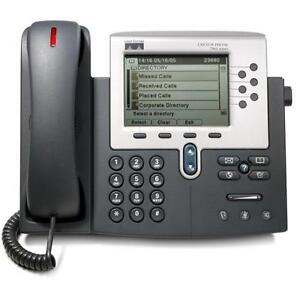 Cisco Unified IP Phone 7961G - Monochrome Display - (6) Back-Lit Line Keys - CP-7961G - NEW