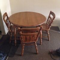 Walnut Dining Room Table & Chairs