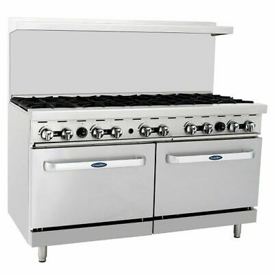60 10 Burner Range Top With Double Oven Stainless Nsf Propane Lp Gas 5 Ft Wide