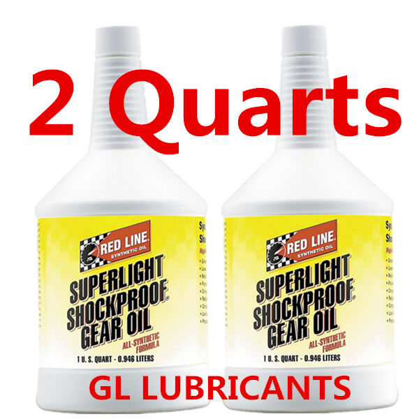 2 x Redline Superlight Shockproof Gear Oil 1-Quart
