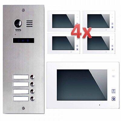 ES4 +dt47w Door Intercom 4 Family House 2 Wires