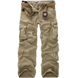 New-Mens-Cotton-Casual-Military-Army-Cargo-Camo-Combat-Work-Pants-Trousers-R49-4