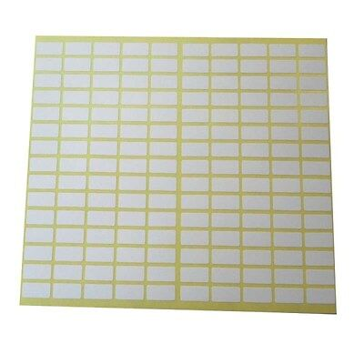 150 Small Label 8x20 Mm Sticker White Price Tag Blank Marker Self Adhesive