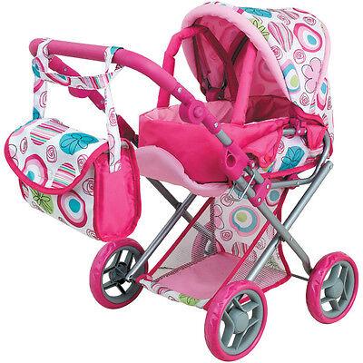 Sun Mein erster Puppenwagen Jana für Kinder Kombi Buggy Tragetasche Set rosa