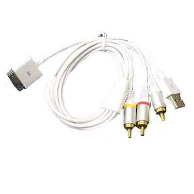 Usb Av Tv Rca Audio Video Composite Cable For Ipad 2 3 Ip...