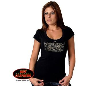 """Hot Leathers """"All American Biker Girl"""" Ladies Tee, Size Large"""