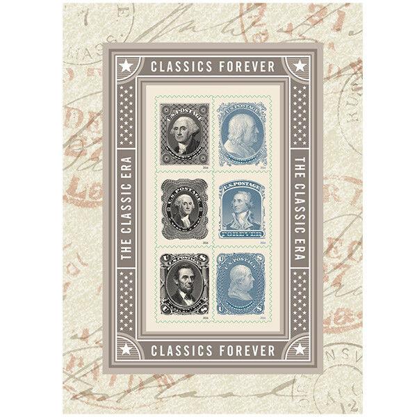 USPS New Classics Forever Souvenir Sheet of 6